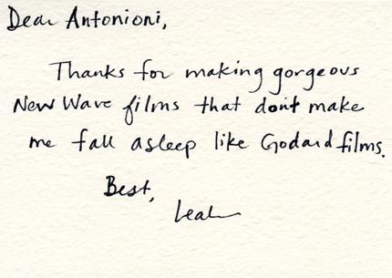 Dear Antonioni