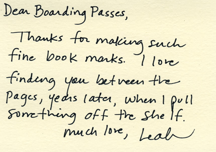 dear boarding passes