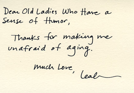 Dear Old Ladies Who Have a Sense of Humor