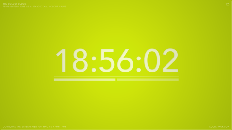 The Colour Clock: 18:56:02