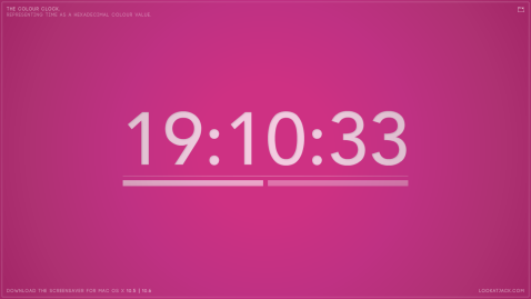 The colour clock: 19:10:33