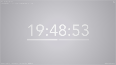 The colour clock: 19:48:53