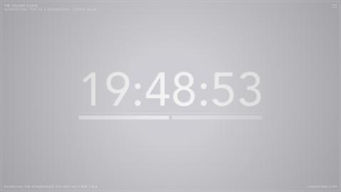 The colour clock: 19:48:53