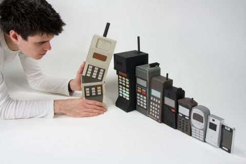 Mobile phone stacking dolls