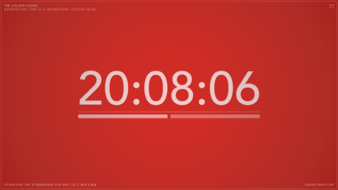 The colour clock: 20:08:06