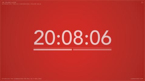 The colour clock: 20:08:06