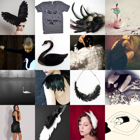 To that scene we dedicate this treasury list: Etsy finds: Black Swan