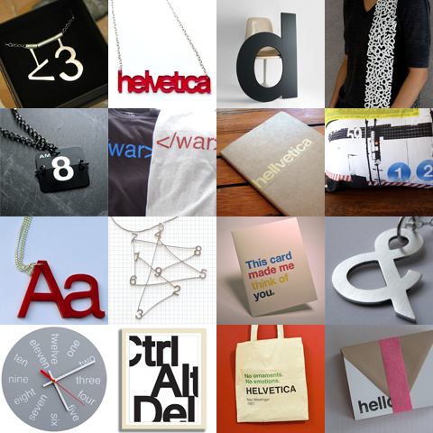 Etsy finds: helvetica