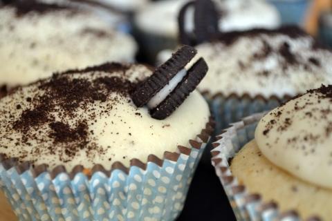 oreo cupcakes closeup