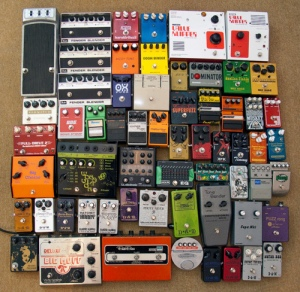 things organized neatly: musical effects