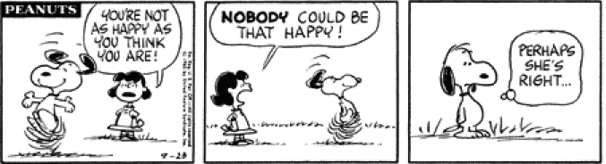 Peanuts the existentialist edition