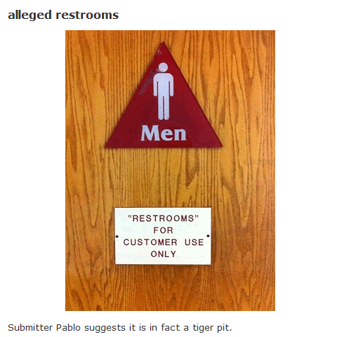 alleged restrooms