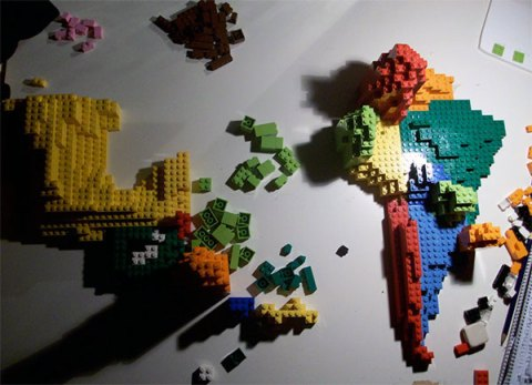 Lego map South America