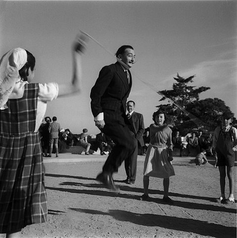 Salvador Dali jumping rope