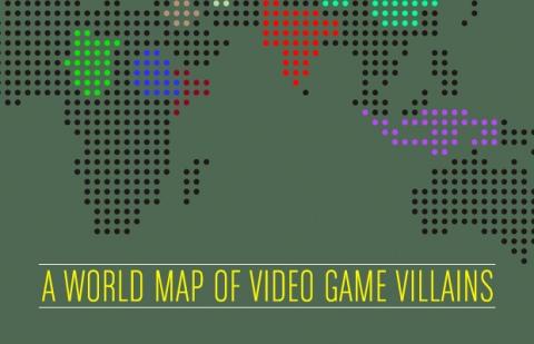 A world map of video games villains