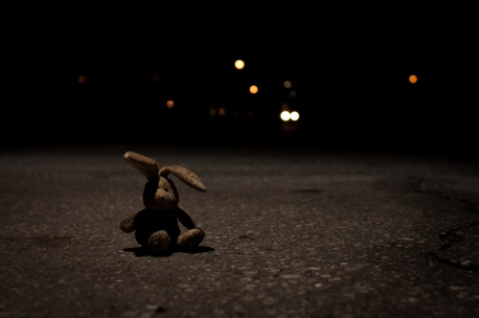 Sad stuff on the street soft toy