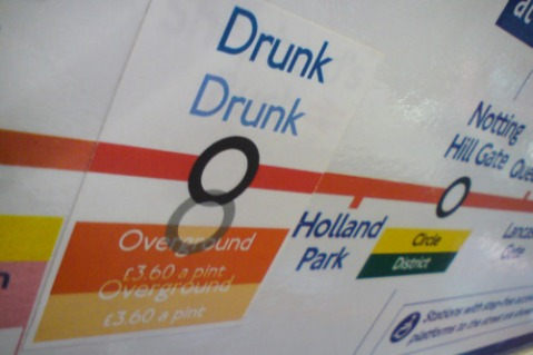 drunk tube sticker