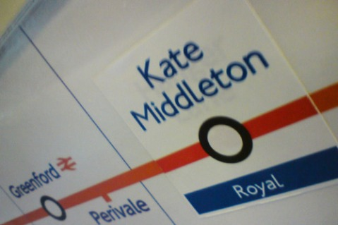 kate middleton tube sticker
